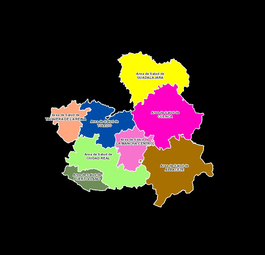 Mapa Castilla La Mancha Png.Mapa Sanitario De Castilla La Mancha